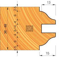 OMAS 421-7 Adjustable Door Moulding Set d=31.75