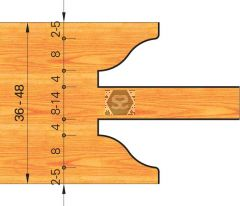 OMAS 422-1 Door Profiling Set d=31.75 D=290 Z=4 ME