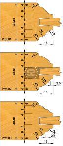OMAS K421-25 Door Moulding Set d=31.75
