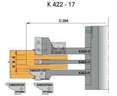 OMAS K421-17 Door & Window Tenoning Set d=40