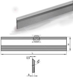 Hss Serrated Cutter L = 130 Hxs = 40x6 M2