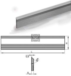 Hss Serrated Cutter L = 180 Hxs = 40x8 M2