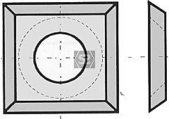 L=13.6 W=13.6 T=2 TC Blades Box/10