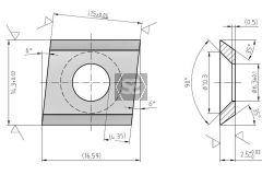 Scraper Blade for Brandt 15x14.3x2.5 LH