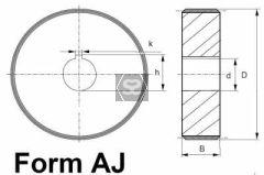 Steel Feed Roller D=170 B=60 D=40 K=12