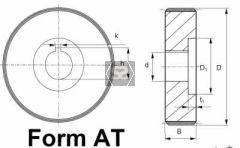 Steel Feed Roller D=170 B=60 D=110 K=10 D1=120 T1=