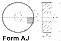 Steel Feed Roller D=230 B=55 D=30 K=10 10
