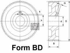 Steel Feed Roller D=147 B=50 D=35 K=10