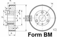 Steel Feed Roller D=140 B=20 D=35 D1=100 Tk=55