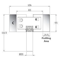 Whitehill C Cutter Blank [pr] 55 x 55 x 6mm HSS