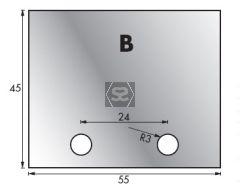 Whitehill B Limiter Blank pair 54 x 44 x 4 mm