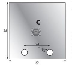 Whitehill C Limiter Blanks per pair 53 x 54 x 4mm