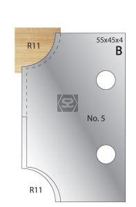 Whitehill Cutters [pr]  no.5 Ovolo R=11