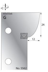 Whitehill 65mm Scribe Cutters [pr] no.5562