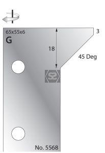 Whitehill 65mm Scribe Cutters [pr] no.5568