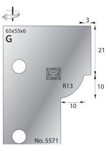 Whitehill 65mm Scribe Cutters [pr] no.5571