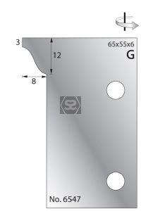 Whitehill 65mm Scribing Cutters [pr]  no.6547