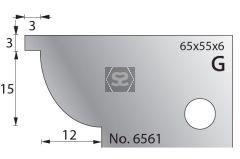 Whitehill 65mm Scribing Cutters [pr]  no.6561