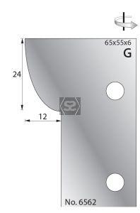 Whitehill 65mm Scribing Cutters [pr]  no.6562