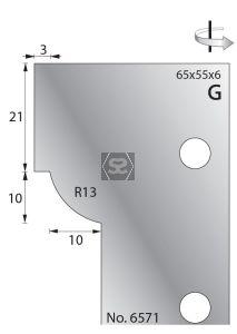 Whitehill 65mm Scribing Cutters [pr]  no.6571