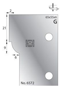 Whitehill 65mm Scribing Cutters [pr]  no.6572