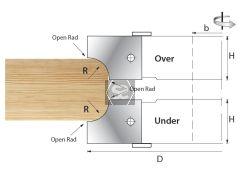 Whitehill Block Open Radius Over D=125 R=15 d1 1/4