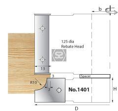 Whitehill 1401 TC Mould Head D=125 x 20 d=1 1/4